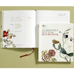 A Gardener's Five-Year Record Book Journal