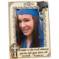 Graduation Themed Religious Frame