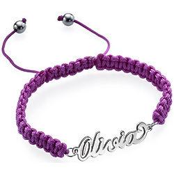 Shamballa Sterling Name Bracelet