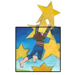Rising Star Art Plaque for a Girl