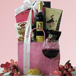 Happy Birthday Diva Wine Sweets Gift Basket