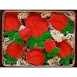 Red Roses Hand Decorated Cookies