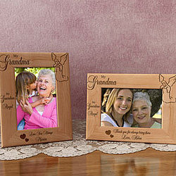 Personalized My Guardian Angel Wooden Picture Frame