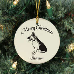 Dog Breed Personalized Ceramic Ornament