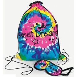 Sleepover Backpack Tote with Eye Mask