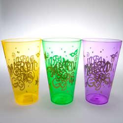 Deluxe Mardi Gras Plastic Cups