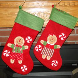 Yummy Yuletide Gingerbread Personalized Christmas Stocking