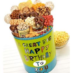 Great Big Happy Birthday Deluxe Snack Tin
