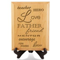Father Descriptions Wooden Plaque
