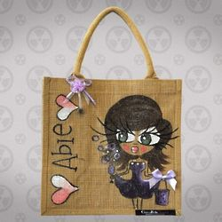 Personalized Medium Jute Bag