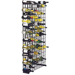 Black Metal Wall Mount Lattice Wine Rack