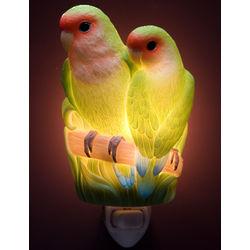 Peach-Faced Parrots Night Light