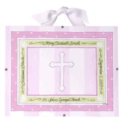 Personalized Pink Baptism / Christening Record