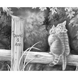 Love Cats Personalized Print