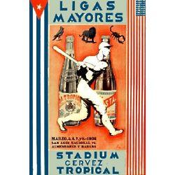 Liga De La Pelota Vintage Cuban Beer Ad