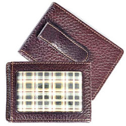 Tyler Tumbled Leather Two Fold Money Clip