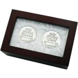 1st Tooth and Curl Silver-Plated Keepsake Box Set