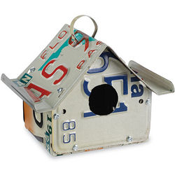 Recycled License Plates Custom Birdhouse