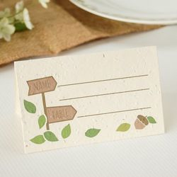 Rustic Tree Plantable Place Card