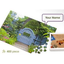Personalized Garden Gate Jigsaw Puzzle