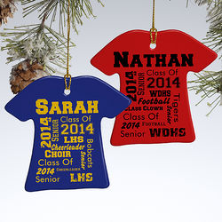 Personalized School Spirit Ornament