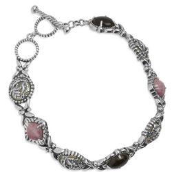 Morning Glory Rhodonite Toggle Bracelet
