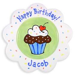 Personalized Birthday Cake Plate for Boy