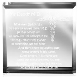 My Daddy M.D. Paperweight