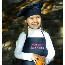 Personalized Denim Kid's Apron and Cook Hat