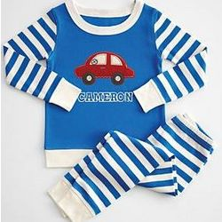 Kid's Striped Pajamas with Patch
