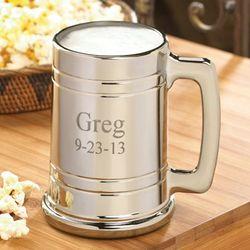 Personalized Gunmetal Beer Mug