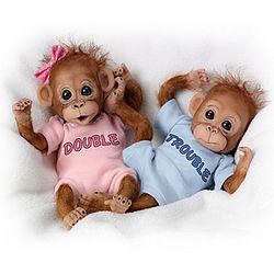 Double Trouble Monkey Baby Dolls
