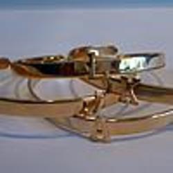 Gold-Plated Mini Initial Cuff Bracelet