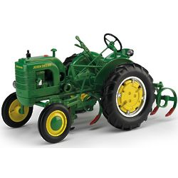John Deere Diecast LA Tractor with Leaf Spring Cultivator