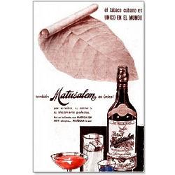 Ron Matuzalem Rum Vintage Cuban Ad