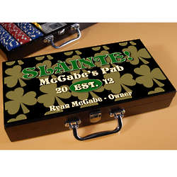 Field of Shamrocks Personalized Poker Set