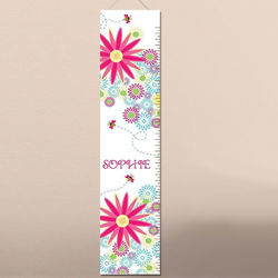 Buzzing Flowers Personalized Growth Chart