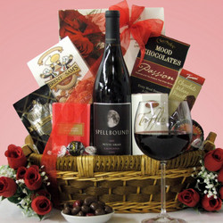 Spellbound Petite Sirah Wine Gift Basket
