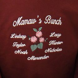 Bunch of Kids Personalized Embroidered Family T-Shirt