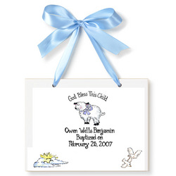 Personalized Baptism Plaque