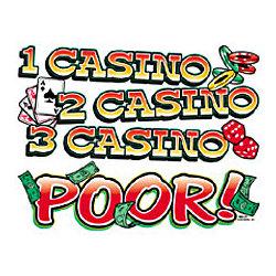 1 Casino, 2 Casino, 3 Casino, Poor! T-Shirt