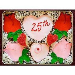 25th Anniversary Sugar Cookie Gift Tin