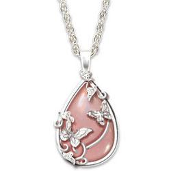 Lena Liu Drops of Nature Rose Quartz Pendant Necklace