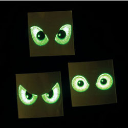 Glow-In-The-Dark Eyeball Tattoos