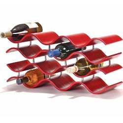 Bali 12 Bottle Wine Rack in Crimson
