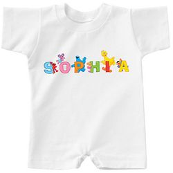 Personalized Sesame Street Characters Name T-Romper