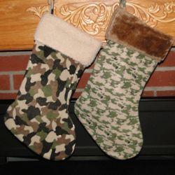 Camo Fleece Personalized Christmas Stocking