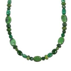 "Southwest Spirit Green 24"" Necklace"