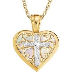 My Daughter Forever Diamond Cross Pendant