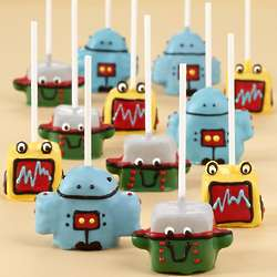 Handmade Robot Cake Pops